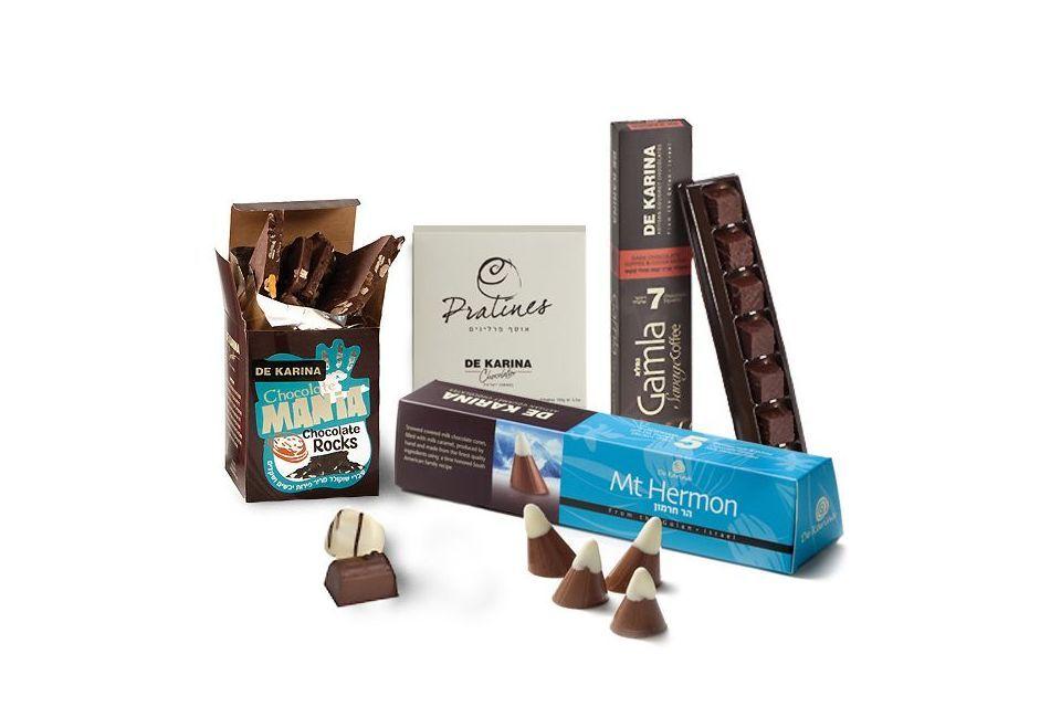 """מארז שוקולד """"דה קרינה"""" קטן"""