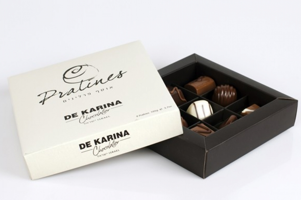 מארז שוקולד פרלינים 9