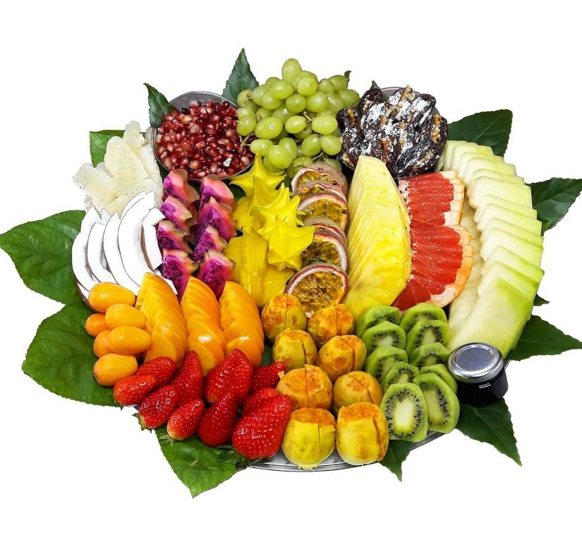 מגש פירות מעוצב האקזוטי ענק