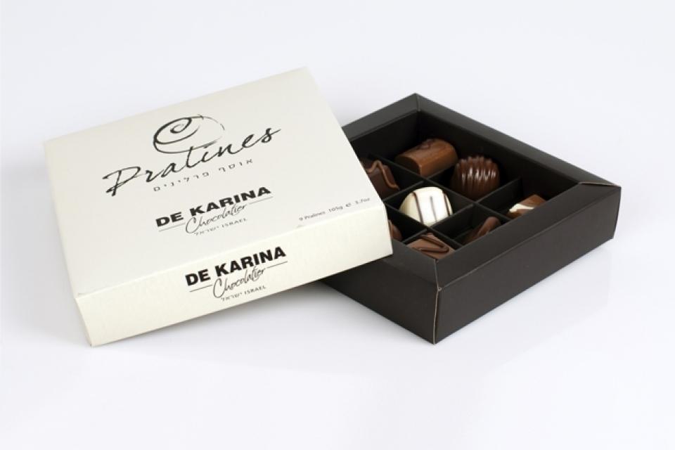 מארז שוקולד פרלינים 16